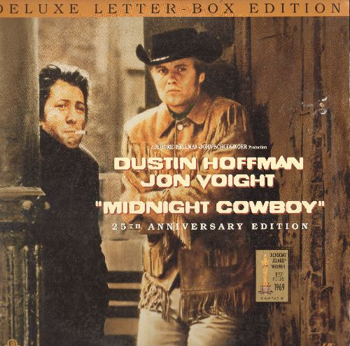Midnight Cowboy - Midnight Cowboy - 25th Anniversary LASER DISC version of the 1969 Best Picture Oscar Winner, Deluxe Letter-Box Edition, 2 Discs in gate-fold cover. - NM9/EX8 - Laser Discs