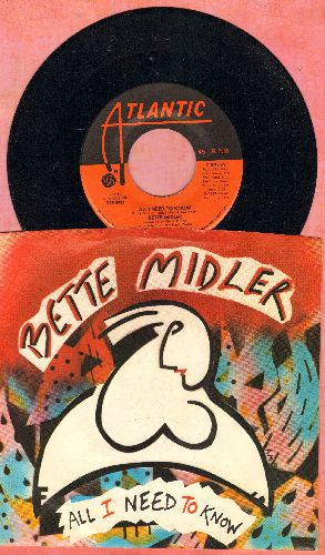 Midler, Bette - All I Need To Know/My Eye On You (with picture sleeve) - NM9/NM9 - 45 rpm Records