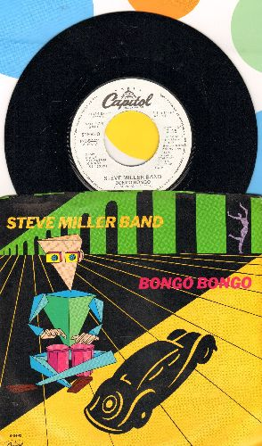 Miller, Steve Band - Bongo Bongo (doubl-A-sided DJ advance pressing with picture sleeve) - NM9/NM9 - 45 rpm Records