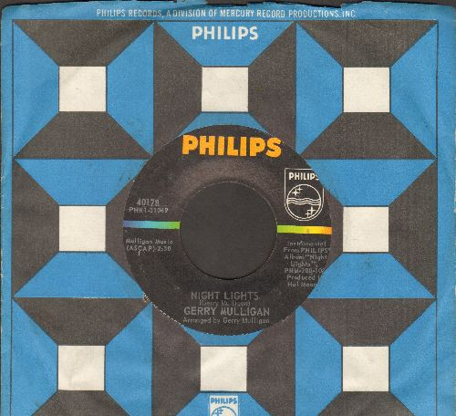 Mulligan, Gerry - Night Lights/Wee Small Hours (with Philips company sleeve) - EX8/ - 45 rpm Records