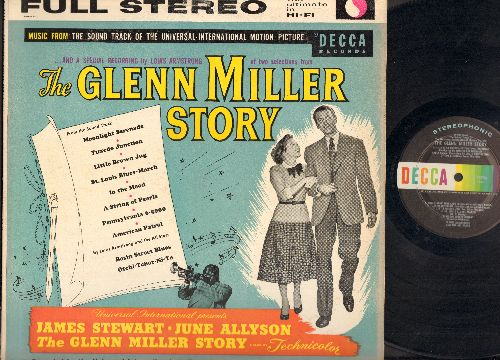 Miller, Glenn - Glenn Miller Story: Moonlight Serenade, Tuxedo Junction, Little Brown Jug, St. Louis Blues-March, Basin Street Blues, In The Mood, A String Of Pearls, Pennsylvania 6-5000, American Patrol, Otchi-Tchor-Ni-Ya (Vinyl Stereo LP Record) (1960s