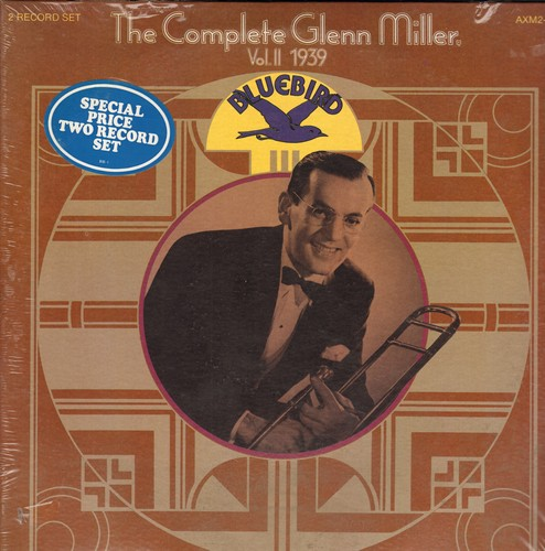 Miller, Glenn & His Orchestra - The Complete Glenn Miller Vol. II 1939: Over The Rainbow, In The Mood, Who's Sorry Now, I Want To Be Happy (2 vinyl LP record set, gat-fold cover, SEALED, never opened!) - SEALED/SEALED - LP Records