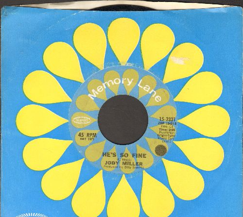 Miller, Jody - He's So Fine/There's A Party Goin' On (double-hit re-issue with company sleeve) - NM9/ - 45 rpm Records