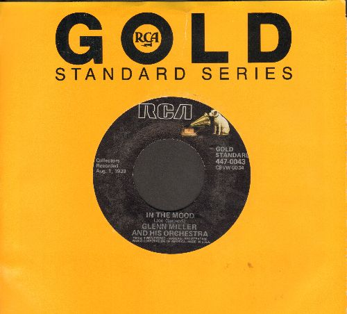 Miller, Glenn & His Orchestra - In The Mood (ALL-TIME #1 BIG BAND TUNE!)/A String Of Pearls (re-issue) - EX8/ - 45 rpm Records