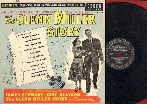 Miller, Glenn - Glenn Miller Story: Moonlight Serenade, Tuxedo Junction, Little Brown Jug, St. Louis Blues-March, Basin Street Blues, In The Mood, A String Of Pearls, Pennsylvania 6-5000, American Patrol, Otchi-Tchor-Ni-Ya (Vinyl MONO LP Record) (black la