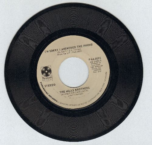 Mills Brothers - I'm Sorry I Answered The Phone/Happy Songs Of Love - NM9/ - 45 rpm Records