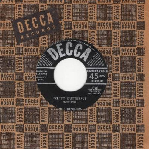 Mills Brothers - Pretty Butterfly/Don't Let Me Dream (balck label, silver lines early 50s issue) - EX8/ - 45 rpm Records
