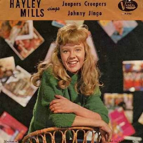 Mills, Hayley - Jeepers Creepers/Johnny Jingo (with picture sleeve, NICE condition!) - EX8/VG7 - 45 rpm Records