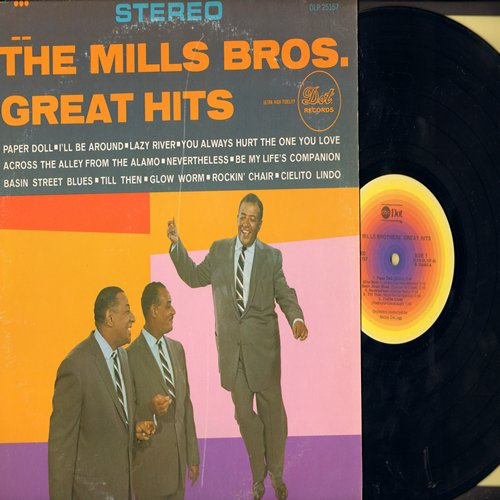 Mills Brothers - Great Hits: Glow Worm, Paper Doll, You Always Hurt The One You Love, Till Then, Rockin' Chair (vinyl STEREO LP record) - NM9/EX8 - 45 rpm Records