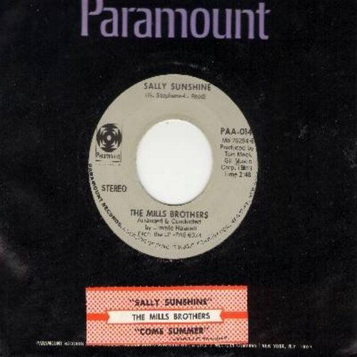 Mills Brothers - Sally Sunshine/Come Summer (with Paramount company sleeve and juke box label) - M10/ - 45 rpm Records