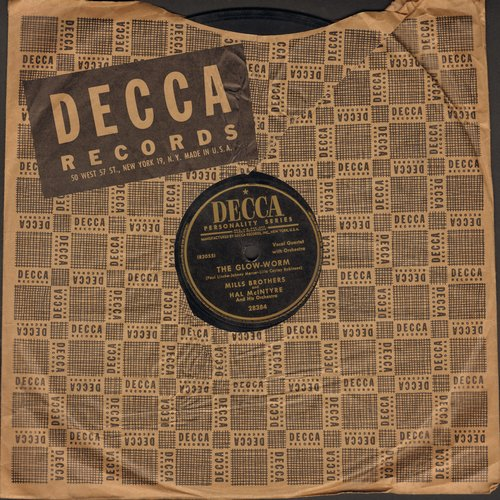 Mills Brothers - The Glow-Worm/After All (10 inch 78 rpm record with Decca company sleeve) - EX8/ - 45 rpm Records