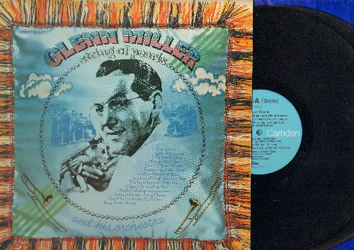 Miller, Glenn - String Of Pearls: At Last, Serenade In Blue, Johnson Rag, Blues In The Night, American Patrol (2 vinyl STEREO LP records, gate-fold cover, 1973 pressing of vintage recordings) - NM9/EX8 - LP Records