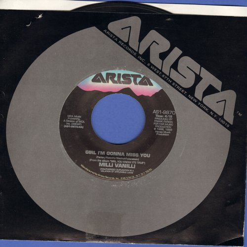 Milli Vanilli - Girl I'm Gonna Miss You/All Or Nothing  - EX8/ - 45 rpm Records