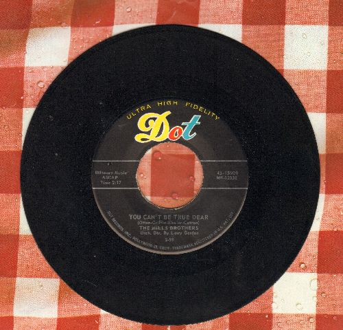 Mills Brothers - You Can't Be True Dear/Beaver - EX8/ - 45 rpm Records