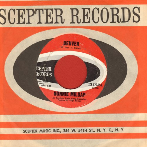 Milsap, Ronnie - Denver/Nothing Is As Good As It Used To Be (with Scepter company sleeve) (wos) - NM9/ - 45 rpm Records