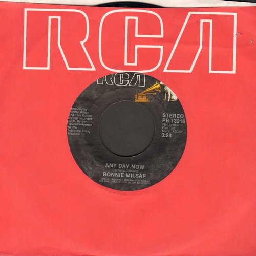 Milsap, Ronnie - Any Day Now (VERY NICE update of the Jerry Butler R&B Classic!)/It's Just A Room - M10/ - 45 rpm Records
