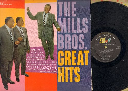 Mills Brothers - Great Hits: Glow Worm, Paper Doll, You Always Hurt The One You Love, Till Then, Rockin' Chair (vinyl MONO LP record) - NM9/EX8 - 45 rpm Records