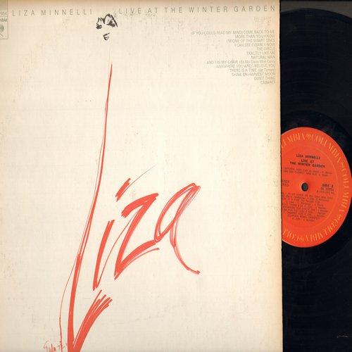 Minnelli, Liza - LIVE At The Winter Garden: Liza with a -Z-, Ring Them Bells, If You Could Read My Mind, Cabaret (vinyl STEREO LP record) - NM9/VG7 - LP Records