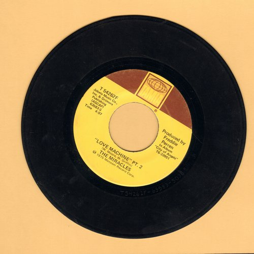 Miracles - Love Machine (Parts 1+2) - VG6/ - 45 rpm Records