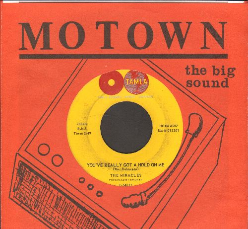 Miracles - You've Really Got A Hold On Me/Happy Landings (with Motown company sleeve) - VG7/ - 45 rpm Records