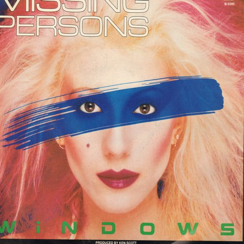 Missing Persons - Windows (double-A-sided DJ advance pressing with picture sleeve) - M10/EX8 - 45 rpm Records