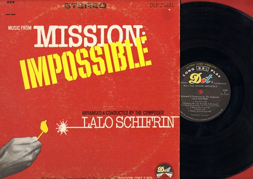 Schifrin, Lalo - Mission: Impossible: Cinnamon, Jim On The Move, Operation Charm, The Sniper, Wide Willy, Barney Does It All, Mission: Accomplished (vinyl STEREO LP record) - EX8/VG6 - LP Records