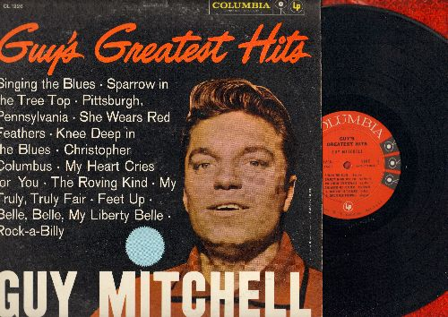 Mitchell, Guy - Guy's Greatest Hits: Singing The Blues, Rock-A-Billy, Sparrow In The Tree Top, The Roving Kind (vinyl MONO LP record) - NM9/EX8 - LP Records