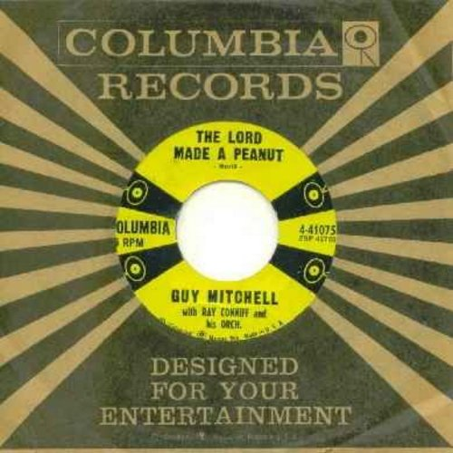 Mitchell, Guy - The Lord Made A Peanut/(I'm Walkin' Down A) One Way Street (with original company sleeve) - EX8/ - 45 rpm Records