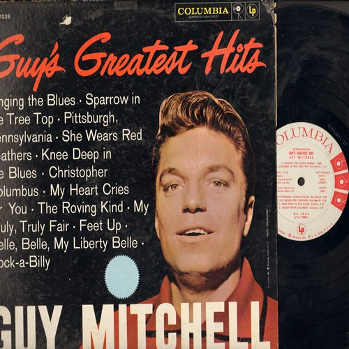 Mitchell, Guy - Guy's Greatest Hits: Singing The Blues, Rock-A-Billy, Sparrow In The Tree Top, The Roving Kind (vinyl MONO LP record, RARE DJ advance pressing) - NM9/EX8 - LP Records