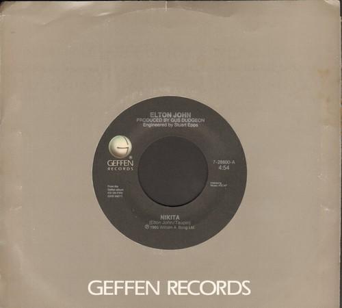 John, Elton - Nikita/Restless ('Cold War' Theme) (with Geffen company sleeve) - EX8/ - 45 rpm Records