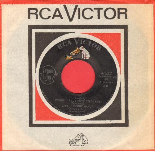 March, Little Peggy - (I'm Watching) Every Little Move You Make/After You (with vintage RCA company sleeve) - NM9/ - 45 rpm Records