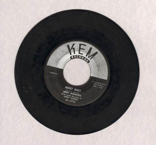 Madison, Jerry - Merry Mary (Quite Contrary)/Don't Ever Make Me Cry - EX8/ - 45 rpm Records