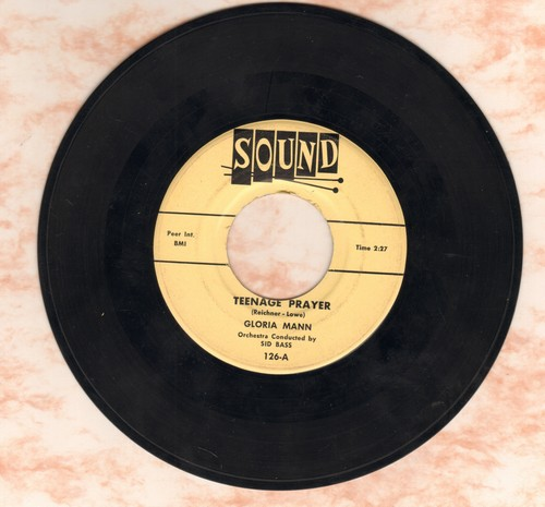 Mann, Gloria - A Teenage Prayer/Gypsy Lady  - VG7/ - 45 rpm Records
