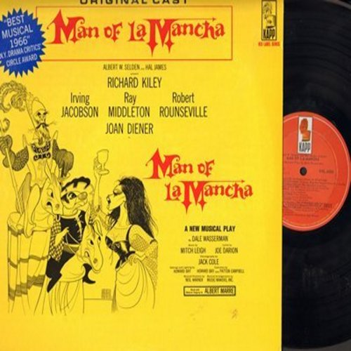 Man Of La Mancha - Man Of La Mancha - Original Cast Recording (vinyl LP record) - NM9/EX8 - LP Records