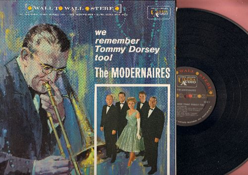 Modernaires - We Remember Tommy Dorsey Too! - Boogie Woogie, Marie, Opus 1, I'll Never Smile Again, Swanee River (vinyl LP record, RARE Wall-To-Wall STEREO pressing, gate-fold cover) - NM9/NM9 - LP Records