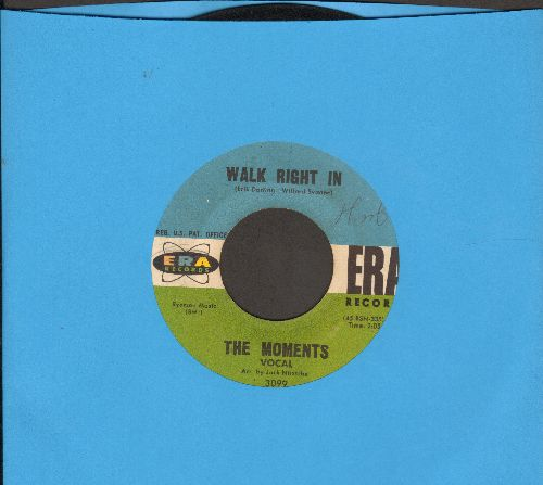 Moments - Walk Right In/Walk Right In (Instrumental) - VG7/ - 45 rpm Records