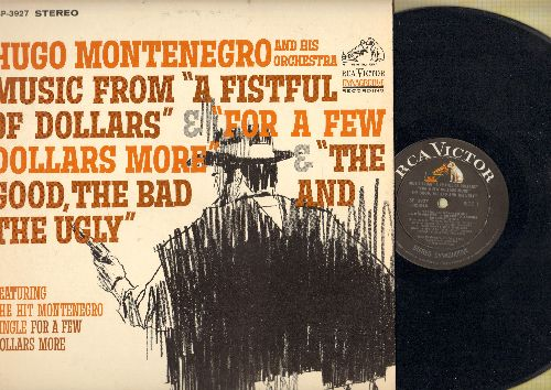 Montenegro, Hugo & His Orchestra - Music From -A Fistful Of Dollars-/-For A Few Dollars More-/-The Good, The Bad And The Ugly- (vinyl STEREO LP record) - EX8/EX8 - LP Records