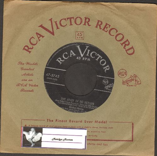 Monroe, Marilyn - River Of No Return/I'm Gonna File My Claim (RARE 1954 first issue with RCA company sleeve) - VG7/ - 45 rpm Records