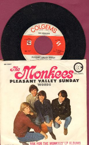 Monkees - Pleasant Valley Sunday/Words (with picture sleeve, NICE condition!) - NM9/EX8 - 45 rpm Records
