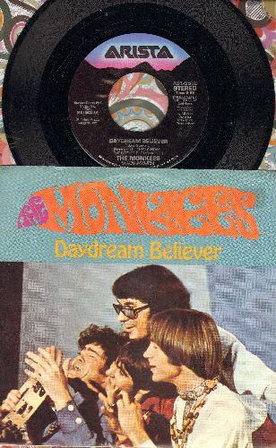 Monkees - Daydream Believer/Randy Scouse Git (with picture sleeve) - M10/NM9 - 45 rpm Records