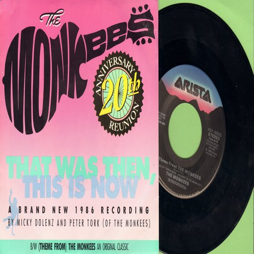 Monkees - That Was Then, This Is Now/Theme From The Monkees (with picture sleeve) - NM9/EX8 - 45 rpm Records
