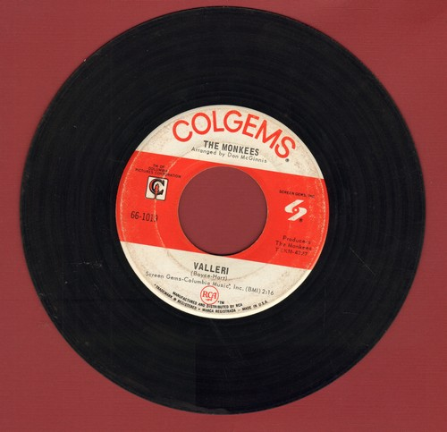 Monkees - Valleri/Tropioca Tundra  - VG7/ - 45 rpm Records