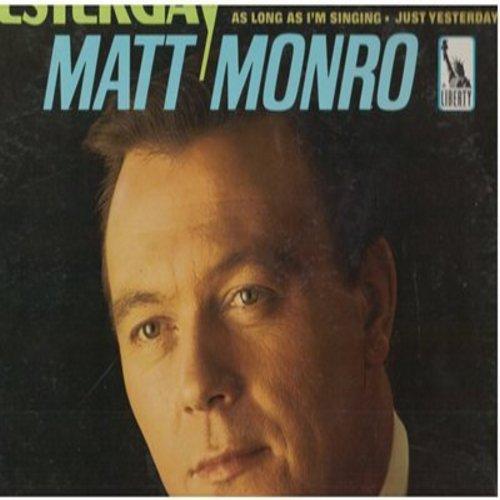 Monro, Matt - Yesterday: Ebb Tide, Singin' In The Rain, Skylark, Till Then My Love (vinyl MONO LP record) - NM9/NM9 - LP Records
