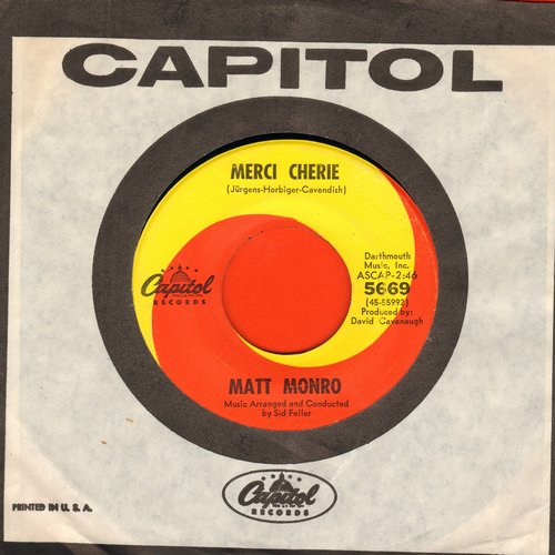 Monro, Matt - Merci Cherie (WINNER Grand Prix Eurovision by Udo Jurgens)/Honey On The Vine (with Capitol company sleeve) - NM9/ - 45 rpm Records