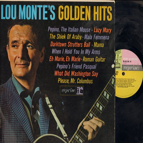 Monte, Lou - Lou Monte's Golden Hits: Pepino The Italina Mouse, Lazy Mary, The Sheik Of Araby, Pepino's Friend Pasqual, Please Mr. Columbus (vinyl MONO LP record) - EX8/EX8 - LP Records
