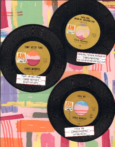Montez, Chris - 3-Pack with jke box labels. Hits include Call Me, There Will Never Be Another You, Time After Time. GREAT for a Juke Box! - EX8/ - 45 rpm Records