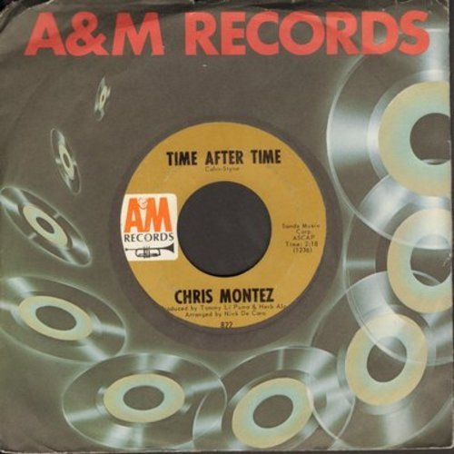Montez, Chris - Time After Time/Keep Talkin'  (with A&M company sleeve)(bb) - NM9/ - 45 rpm Records