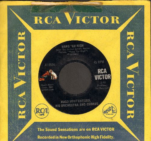 Montenegro, Hugo & His Orchestra & Chorus - Hang 'Em High/Tomorrow's Love (with RCA company sleeve) - NM9/ - 45 rpm Records