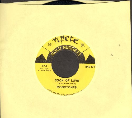 Monotones - Book Of Love/Where Did Our Love Go (by Donnie Elbert on flip-side) (double-hit re-issue) - M10/ - 45 rpm Records