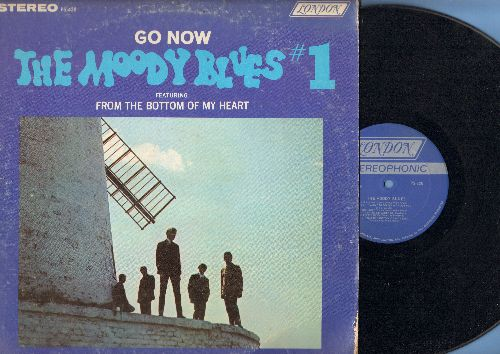 Moody Blues - The Moody Blues #1 - Go Now: From The Botom Of My Heart, It Ain't Necessarily So, I Go Crazy (vinyl STEREO LP record) - EX8/VG7 - LP Records